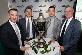 GPA Co-founder Donal Og Cusack, Paul Flynn (CEO of the Gaelic Players Association), GPA Super 11's Project Manager Conor Ryan (ex-Clare hurler)