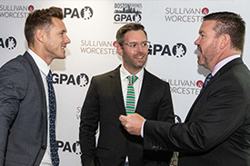Paul Flynn (CEO of the GPA), Consul General of Ireland Shane Cahill, John Clark (Executive VP at Fenway Sports Management)