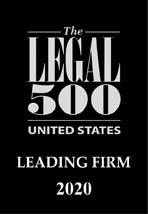The Legal 500 US 2020 - Leading Firm