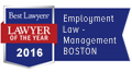 Best Lawyers, Lawyer of the Year 2016 - Litigation - Bankruptcy - Boston