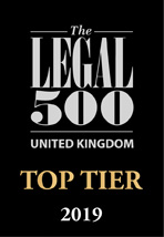 The Legal 500 UK 2019, Top Tier