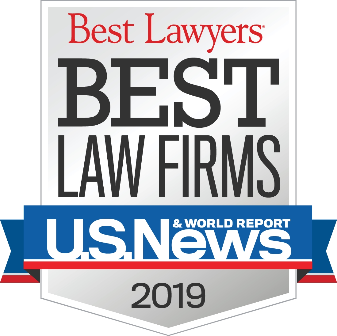 "U.S. News Best Lawyers ""Best Law Firms"" 2019"