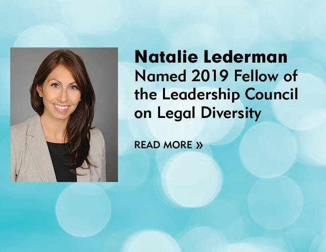 Image of Natalie Lederman Named 2019 Fellow of the Leadership Council on Legal Diversity